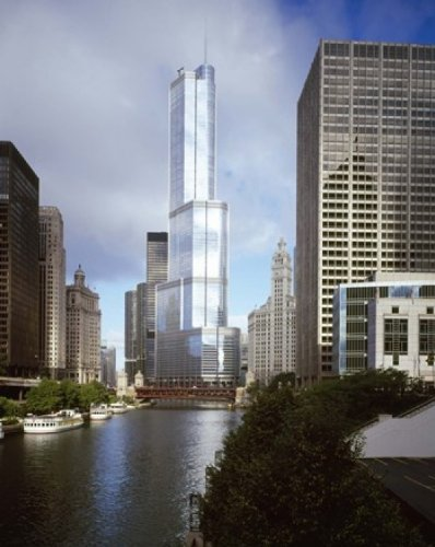 Panoramic Images – Skyscrapers in a city Trump Tower Chicago River Chicago Cook County Illinois USA Photo Print (35,56 x 27,94 cm) (Chicago Illinois Tower Trump)