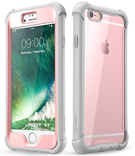 iPhone 6S Plus Fall, iPhone 6 Plus Case, i-Blason [Ares] Fullbody Rugged Clear Bumper mit integriertem Displayschutz für Apple iPhone 6S Plus/6 Plus 14 cm, Rose I-blason Premium Bumper Case