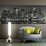 murando Deko Panel XXL 340x100 cm Vlies Tapete Poster Panoramabilder Riesen Wandbilder Dekoration Design Fototapete Wandtapete Wanddeko Wandposter New York 11020904-16