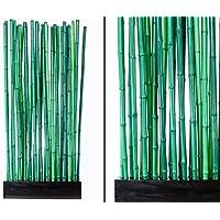 90x12x205cm sockel und 27 rohre grun 2 8