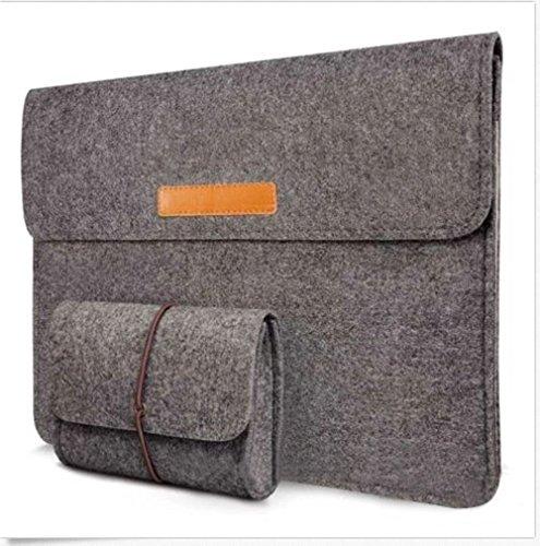 """13-13,3 Zoll Filz Sleeve Hülle Notebook Laptop Tasche für 13""""-13.3"""" Dunkel Grau"""