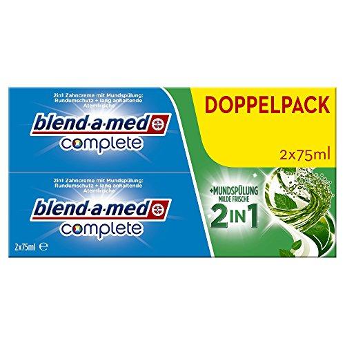 Blend-a-med Complete 2in1 plus Mundspülung Milde Frische Zahncreme, 150 ml