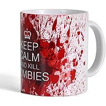 Taza Killing Zombies - 300 ml - blanca - tazón de café de cerámica