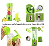 #8: KERWA USB Peronal Portable Blender Bottle Juicer, Personal Size Rechargeable Juice Blender and Mixer, 380Ml