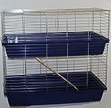 Heimtiercenter XXL 1m doppel Hasenkäfig Meerschweinchenkäfig blau
