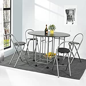 Small Dining Table And 4 Chairs Set Coavas 5Pcs Butterfly
