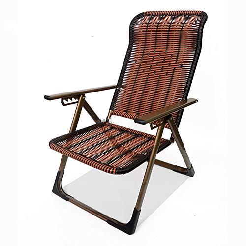 FEE-ZC Klappstuhl Sonnenliege MultifunktionsschläFchen Senioren Erwachsene Mittagspause Stuhl Liegestuhl Sommer Sessel Nach Hause Schaukelstuhl -