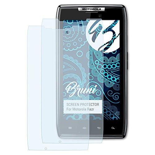 Bruni Schutzfolie kompatibel mit Motorola Razr Folie, glasklare Bildschirmschutzfolie (2X)