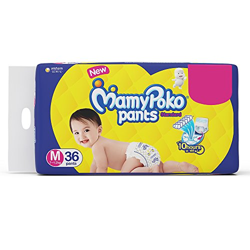 MamyPoko Pants Standard Pant Style Medium Size Diapers (36 Count)