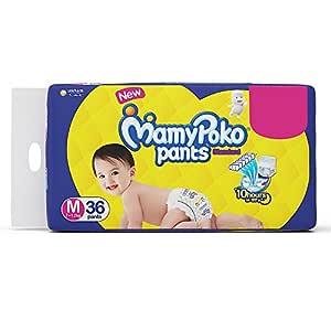 Mamypoko Standard Diaper Pants, Medium (Pack Of 36)