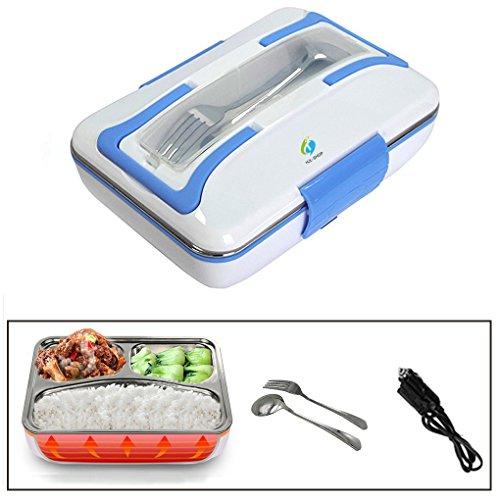 HJJL Chauffante Lunch Box Utilisant en Voiture Électrique Boîte à Lunch Thermique 12V 40W Boîte Alimentaires Boîte Repas ,Boîtes-repas Nettoyage Amovible Boîtier en plastique (BLEU)