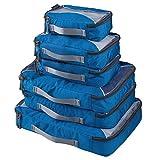 G4Free 6-Teilig Kleidertaschen Packtaschen Kofferorganizer Reisetaschen Packwürfel Set (E-Marineblau)