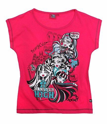 Monster High Mädchen Kinder T-Shirt kurzarm Gr.128 140 152 164 Shirt kurzarm NEU, Farbe:pink, Größe:164 (T-shirt Monster High)