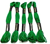 Goelx Skein Embroidery Thread Floss/ Jewelry Making Craft Thread Pack Of 25 Skeins - Green