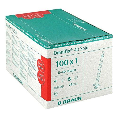 OMNIFIX Solo Insulinspr.1 ml U40 100X1 ml - Insulin Spritzen