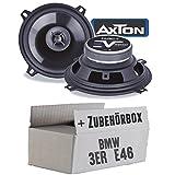 BMW 3er E46 - Lautsprecher Boxen Axton AE502F | 13cm 2-Wege 130mm Koax Auto Einbauzubehör - Einbauset