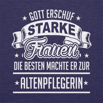 TEXLAB - Altenpflegerin - Herren Langarm T-Shirt Navy