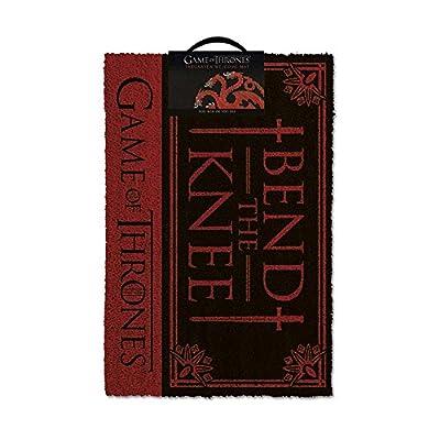 Game Of Thrones Bend the Knee Door Mat, Multi-Colour, 40 x 60 cm