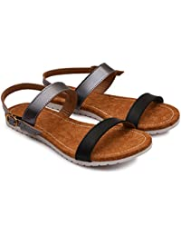 Meriggiare Ladies Casual Flat Slingback Strap Sandals for Women