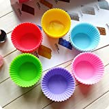 #4: Evana 6 Pcs Round Shaped Silicone Cake Baking Molds Muffin Cupcake Pan Cup Kitchen Accessories