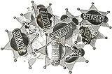Unbekannt Seiler24 Sheriffstern Silber 2 Stück