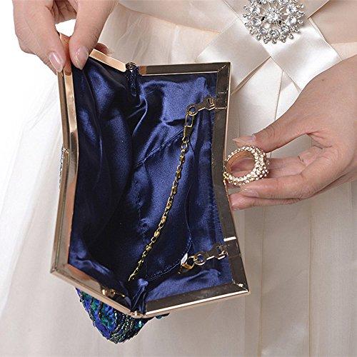 Myleas Pochette Sac de Soirée Mariage Envelopes Epaule chaine Fête - Sac à main Noir