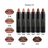 Lippenstift Malloom® 6Pcs Long-lasting Velvet Matte Color Pencil Lipstick Crayon Sexy Makeup Set (E)