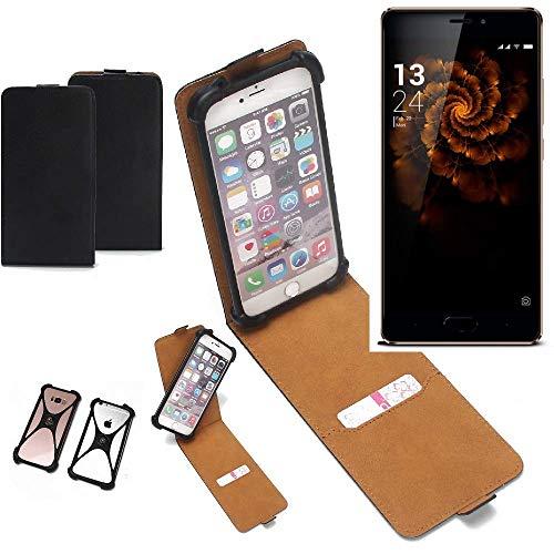K-S-Trade Flipstyle Case für Allview X3 Soul Pro Schutzhülle Handy Schutz Hülle Tasche Handytasche Handyhülle + integrierter Bumper Kameraschutz, schwarz (1x)