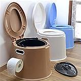 WC Reise Eimer Toilette Campingtoilette für Mobilehome Toiletteneimer Kompost WC BO CAMP 40,5 x 49 x 33cm, Grau, Weiß, Blau Gold/Braun (Gold/Braun)