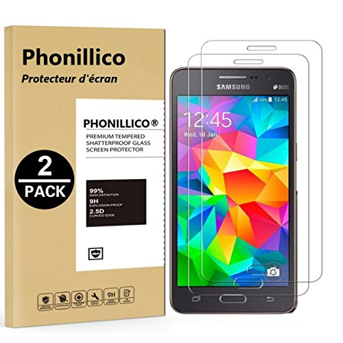 cd03002d285 PHONILLICO [Pack de 2] Verre Trempe pour Samsung Galaxy Grand Prime SM-G530