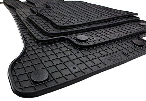 Preisvergleich Produktbild kfzpremiumteile24 Gummimatten Original Qualität Fußmatten Gummi schwarz 4-teilig