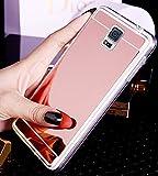 Miroir Coque Compatible avec Samsung Galaxy S5 Miroir Effect Etui Bling Giltter Paillette Transparent Clear View Miroir Coque en Silicone TPU Mince Luxe Placage Housse Etui pour Galaxy S5,Rose Gold