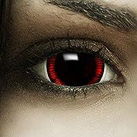 """Mini Sclera Kontaktlinsen """"Flashback"""" + Kunstblut Kapseln + Behälter von FXContacts in braun rot, weich, ohne Stärke als 2er Pack - farbige lenses perfekt zu Halloween, Karneval, Fasching oder Fastnacht"""