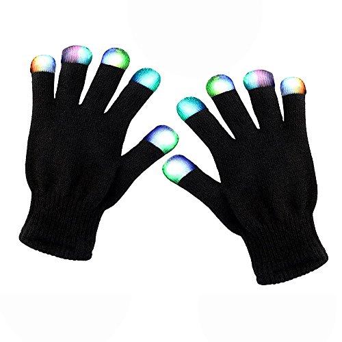 Cooles Spielzeug Jungs, SoKy LED Handschuh Kinder Blinkende Bunte Finger Gloves Handschuhe Geburtstagsgeschenk für Jungen 3-12 Jahr Party Geschenke Kinder