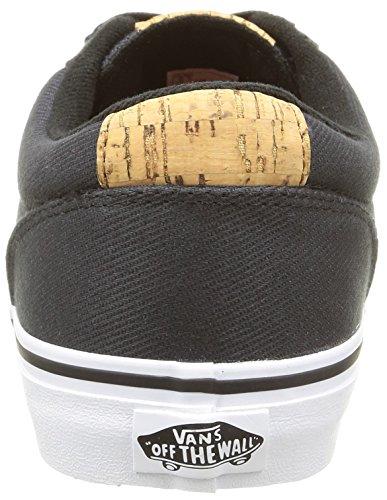 Vans Winston, Baskets Basses Homme Noir (Washed Twill/Black/Blanket)