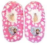 Disney Frozen Hausschuhe Slipper Sneaker Mädchen Kindergarten Schuhe Gr. 25-32 (29/30, rosa)