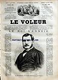VOLEUR (LE) [No 924] du 19/03/1875 - M. LEON RENAULT, PREFET DE POLICE - LA BELLE LIMONADIERE DU CAFE DE L'ECHELLE, PAR P. MAHALIN (SUITE) - LA FEE DU FOYER, PAR CONSTANT GUEROULT (SUITE) - LA FILLE DE MADAME ANGOT, PAR JULES CLARETIE - CORRESPONDANCE DE PROUDHON - LES MEDECINS SANS DIPLOME, PAR LE DOCTEUR E. DECAISNE - DRAMES DE LA VIE REELLE - PAR-CI, PAR-LA BULLETIN - EXPLICATION DU DERNIER REBUS - CHRONIQUE DE LA MODE - BONS CONSEILS - LEON RENAULT PREFET DE POLICE PAR JULES CLARETIE - COR...