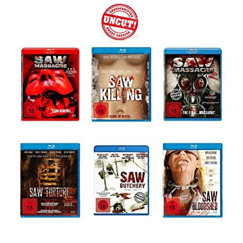Saw Massacre (Uncut!) - Blu-ray 6er Pack
