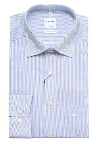 OLYMP Herren Business-Hemd blau blau Blau