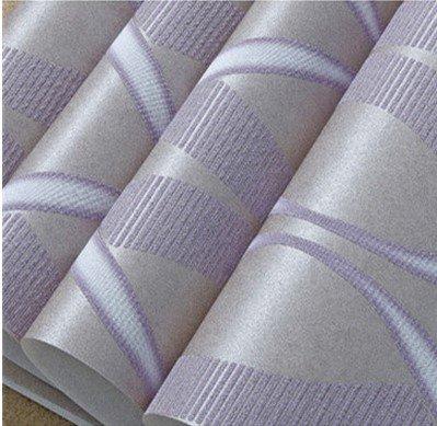 JSLCR Einfache moderne 3D dreidimensionale hohe schäumenden Vlies geprägte Welle Muster Tapete Schlafzimmer Wohnzimmer Teppichboden Tapete