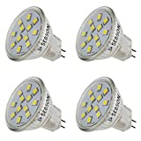 sebson LED Lampe GU4/ MR11 2W (1.6W), ersetzt 20W Glühlampe, warmweiß, 150lm, Leuchtmittel 110°, 12V DC, 4er Pack