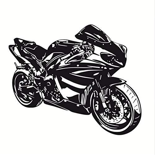 Zxfcczxf Klasse Motorrad Wandaufkleber Ausgangsdekor Wandtattoo Für Jungen Zubehör Vinyl Wandbild Selbstklebende Dekorative Motorrad Modell70 * 56 Cm