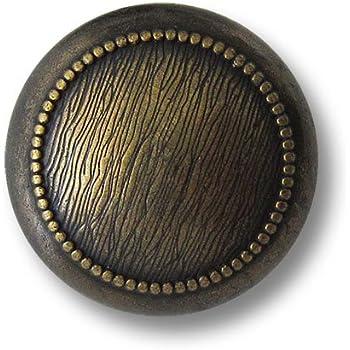 Knopfparadies 19mm kupferfarben geb/ürstet Antik-Optik // Metallkn/öpfe // /Ø ca 8er Set alt wirkende gew/ölbte unrunde /Ösen Metall Kn/öpfe mit unregelm/ä/ßger Zier Rille // bicolor: altsilberfarben