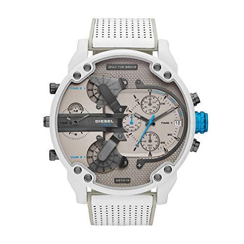 Diesel Herren Analog Quarz Uhr mit Leder Armband DZ7419