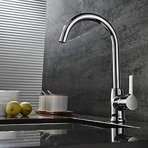 LY Griff chrome Finish Moderne ein Loch von Küchenarmatur