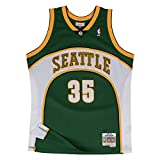 Mitchell & Ness NBA Seattle Supersonics Kevin Durant 2007-08 Retro Jersey Swingman Oficial Away Hardwood Classics Golden State Warriors, Maglia da Basket per Uomo, Small