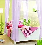 Betthimmel-Vorhänge aus dünnem Schleierstoff für Kinder / Mädchen, weiß, creme, pink, lila Lilac 8 Panel Set