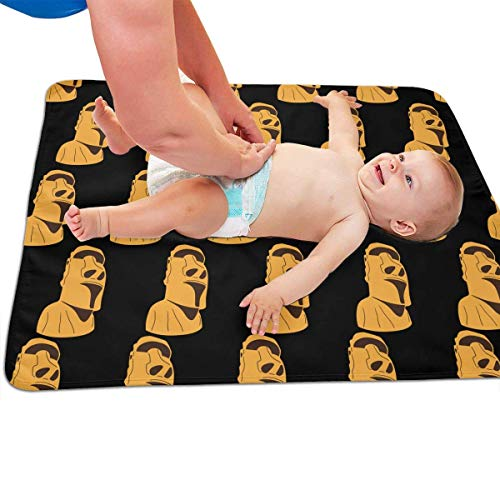 swerrtty Easter Island Moai Statue Isolated Funny Pattern Portable Diaper Baby Changing Pad Multi-Purpose Travel Changing Mat - Island Statue
