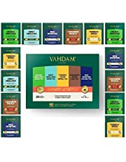 Vahdam Detox Tea Assortment   5 Teas, 4 Pyramid Tea Bags Each   Organic Himalayan Green Tea, Sweet Himalayan Green Tea, Turmeric Spice, Cardamom Spiced Chai & High Mountain Oolong Tea   20 Tea Bags Bag, 40 g