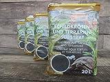 Floragard Schildkrötenerde Schildkrötensubstrat & Terrarienerde - Bodengrund für Terrarien, 80L (4x20L)